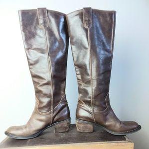 Gianni Bini Brown tall leather boots size 7 medium